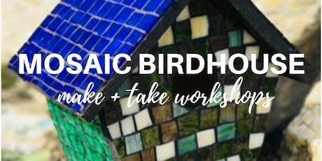 Mosaic Birdhouse Workshop tickets
