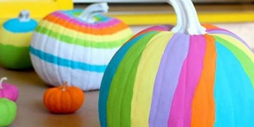 Pumpkin painting party for kids!
