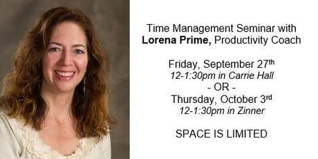 Lorena Prime Time Management Seminar for BWH Female Faculty
