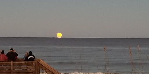 Moonrise at the Beach at Gamble Rogers