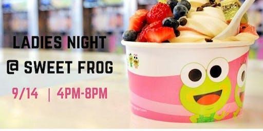 Ladies Night At Sweet Frog Frozen Yogurt