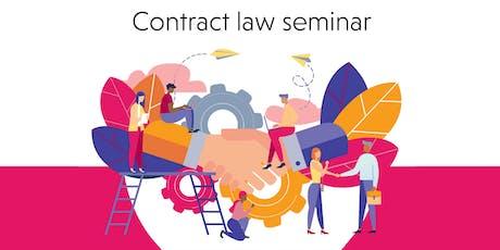 Contract law seminar tickets