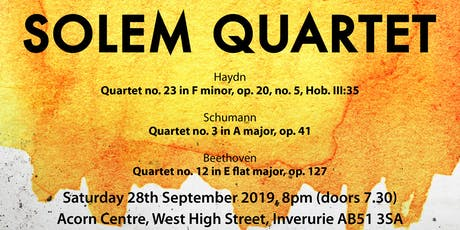 Solem String Quartet Concert tickets