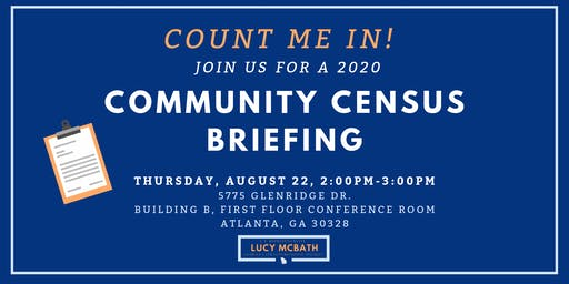 Community Census Briefing  with Rep. Lucy McBath