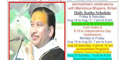 JANMASHTAMI - 10 days of katha with bhajans, kirtan, cultural program