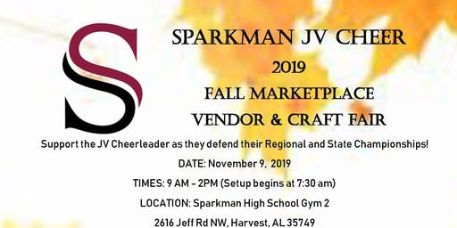 Sparkman JV Cheer Vendor/Craft Fair
