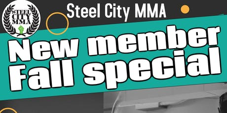 New member Special: Jiu Jitsu and Kickboxing at Steel City MMA tickets