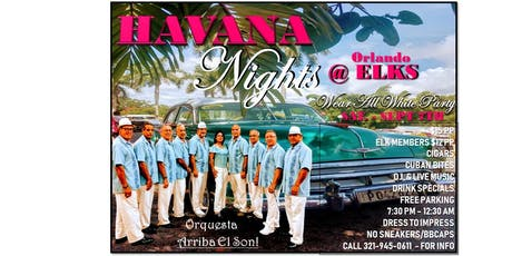 HAVANA NIGHTS @ ORLANDO ELKS FUNDRAISER - LATIN DANCE - BAILE LATINO tickets