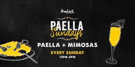 Paella Sundays at thedeck tickets