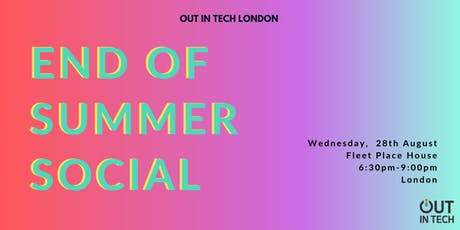 Out in Tech London | End of Summer Social tickets