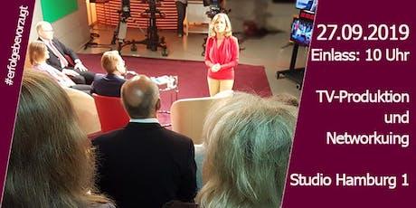 Erfolge bevorzugt |  Talkshow bei Hamburg 1 |TV Produktion & Networking | Tickets