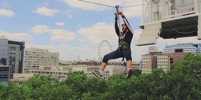 London Zip Wire Pop Up, South Bank with free Mega