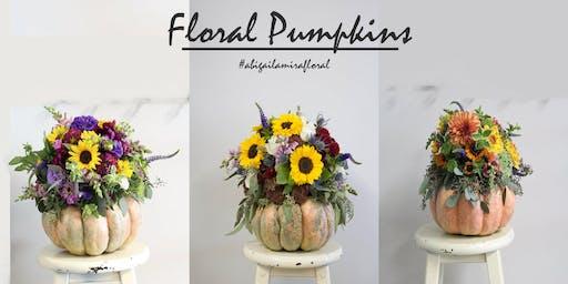 September Workshop: Floral Pumpkins