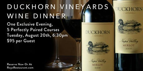Exclusive Duckhorn Vineyards Wine Dinner tickets