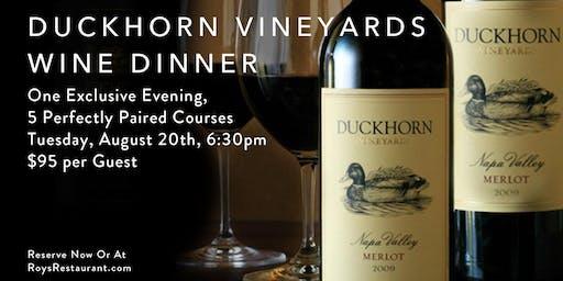 Exclusive Duckhorn Vineyards Wine Dinner