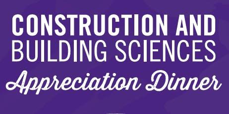Construction & Building Sciences Appreciation Dinner