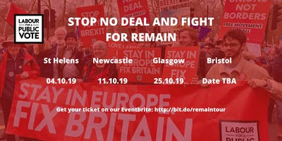Stop No Deal and Fight for Remain! Glasgow