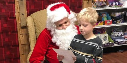 Pictures and donuts with Santa