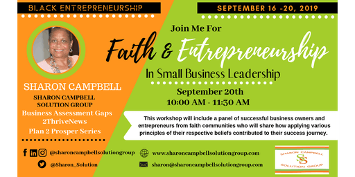 Faith & Entrepreneurship in Small Business Leadership