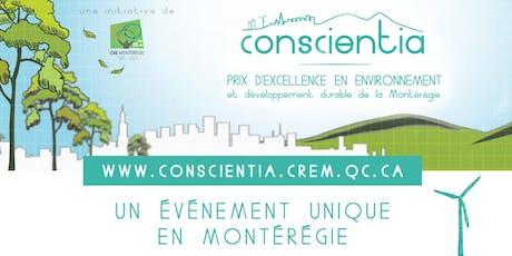 Gala Conscientia - Prix d'excellence en environnement et développement durable en Montérégie billets