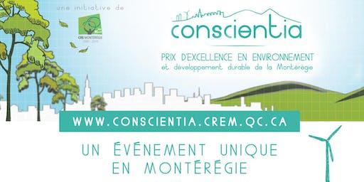 Gala Conscientia - Prix d'excellence en environnement et développement durable en Montérégie