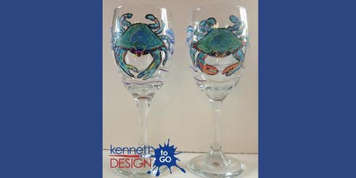 Paint & Sip - Blue Crab Glasses - The Wellwood - 8/20