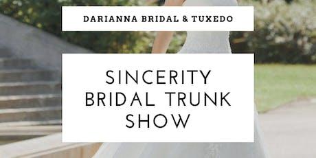 Sincerity Bridal Trunk Show tickets