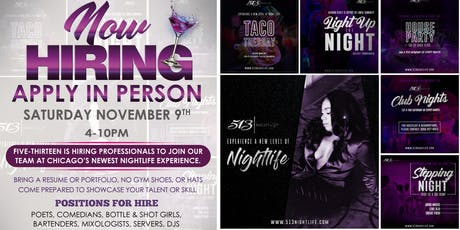 513 Nightlife Casting Call & Hiring Event tickets