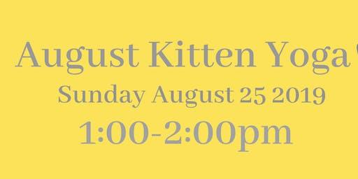 August 2019 Kitten Yoga