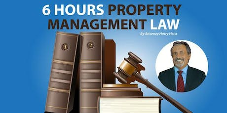 6 Hours of Property Management Law Practices, Procedures, Pitfalls and Law  tickets