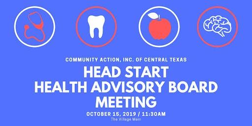 Head Start Health Advisory Board Meeting
