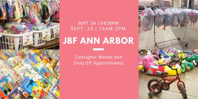 Consignor Drop Off and Waiver - JBF Ann Arbor Fall 19