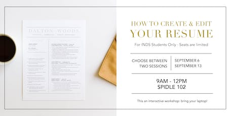 How to Create & Edit Your Resume: A Workshop with Eloise Stewart tickets
