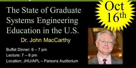 The State of Graduate Systems Engineering Education in the U.S. tickets