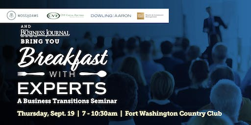 Breakfast With Experts | A Business Transitions Seminar for Owners