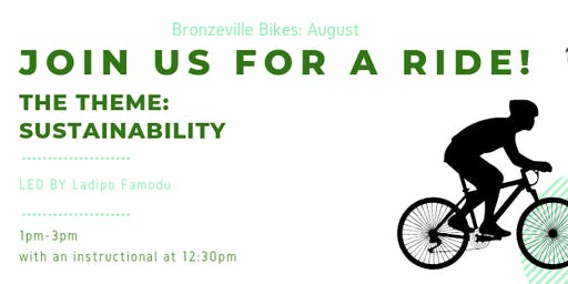 Bronzeville Bikes August: Sustainability Ride