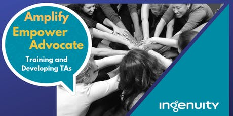 Amplify, Empower, Advocate: Training and Developing TAs (Mini-Course) tickets