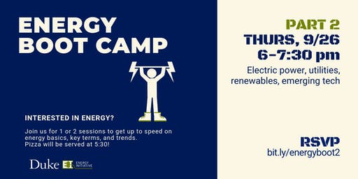 Energy Boot Camp - Part 2