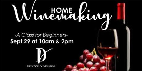 Home Winemaking Class for Beginners tickets