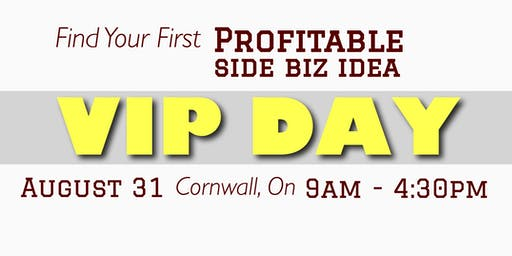 Find Your First Profitable Idea VIP Day