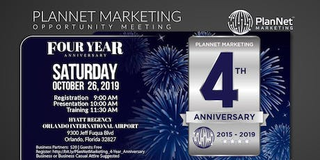 Orlando PlanNet Marketing 4 Year Anniversary  tickets