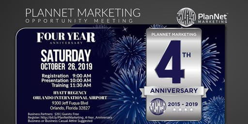 Orlando PlanNet Marketing 4 Year Anniversary