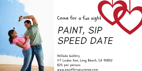 PAINT, SIP, AND SPEED DATE OVER 45 tickets