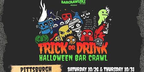 Trick or Drink: Pittsburgh Halloween Bar Crawl (2 Days) tickets