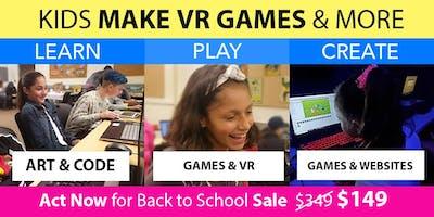 Kids Make VR Games @ Camp