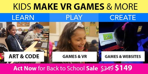 Kids Make VR Games @ Camp