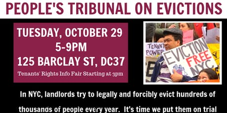 People's Tribunal on Evictions tickets