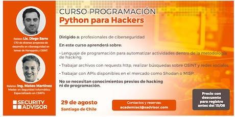 Workshop en Chile! - Python para Profesionales de Ciberseguridad tickets