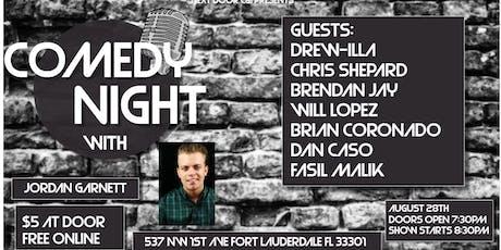 Comedy Night with Jordan Garnett tickets