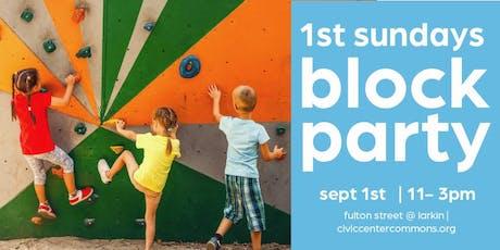 1st Sundays Block Party on September 1st tickets